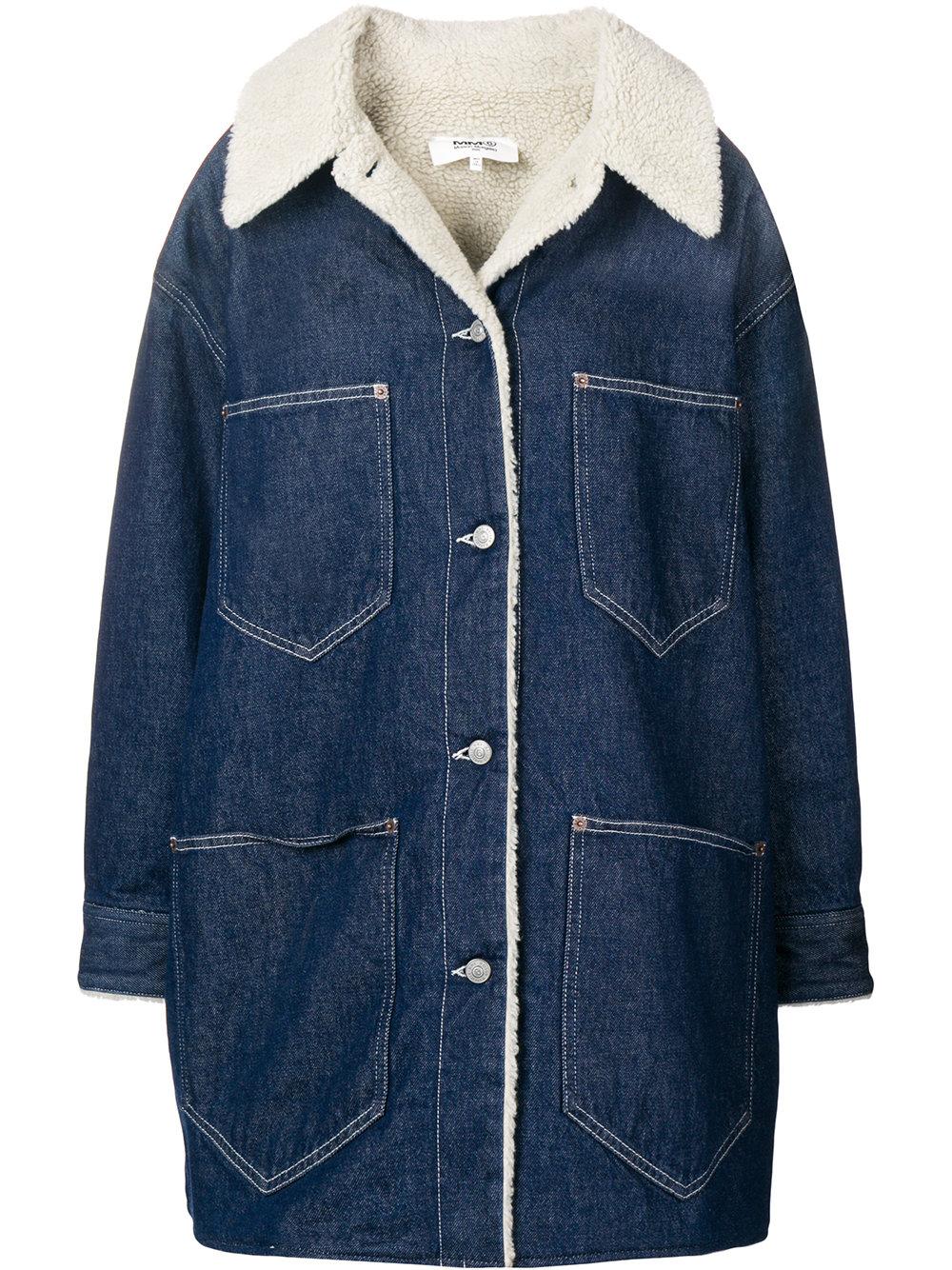 MM6 Maison Margiela   Long Denim Coat