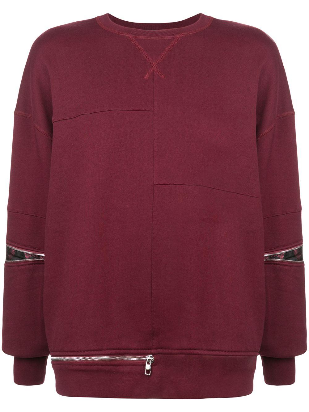 0d7abc6e450d8 Alexander McQueen Zipper Embellished Sweatshirt