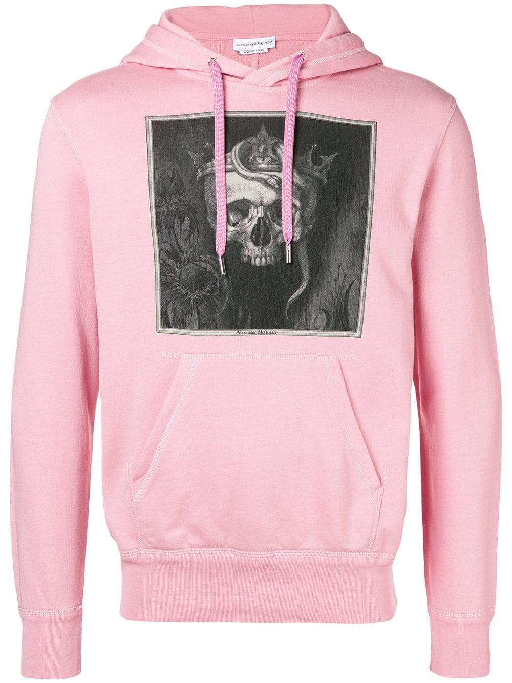 2c03ae3b60331 Alexander McQueen Pink Skull Design Sweatshirt
