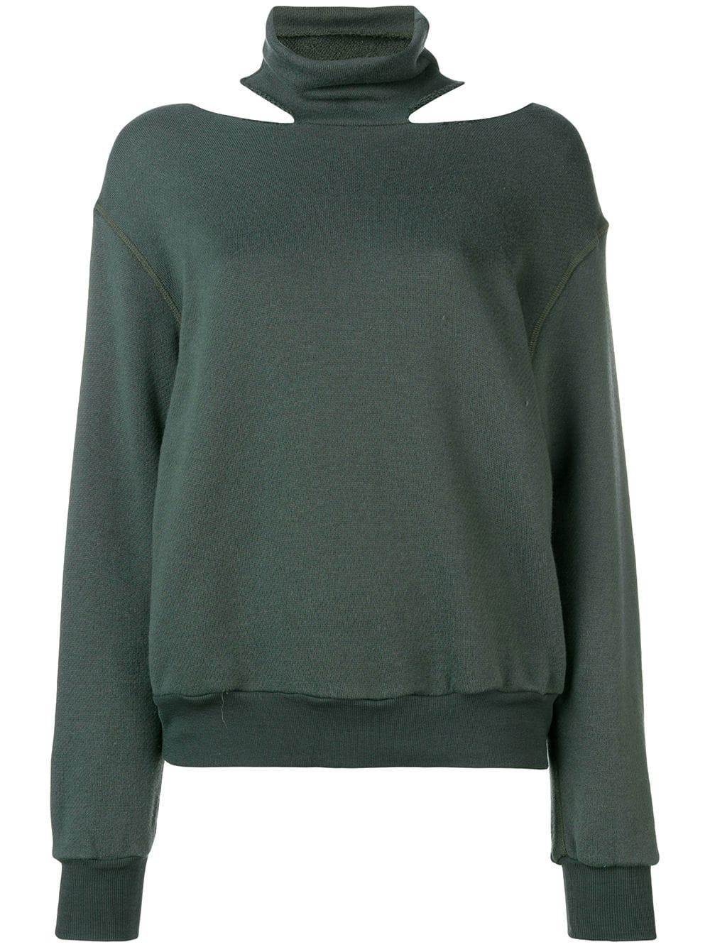 Unravel Project   Mock Neck Sweatshirt