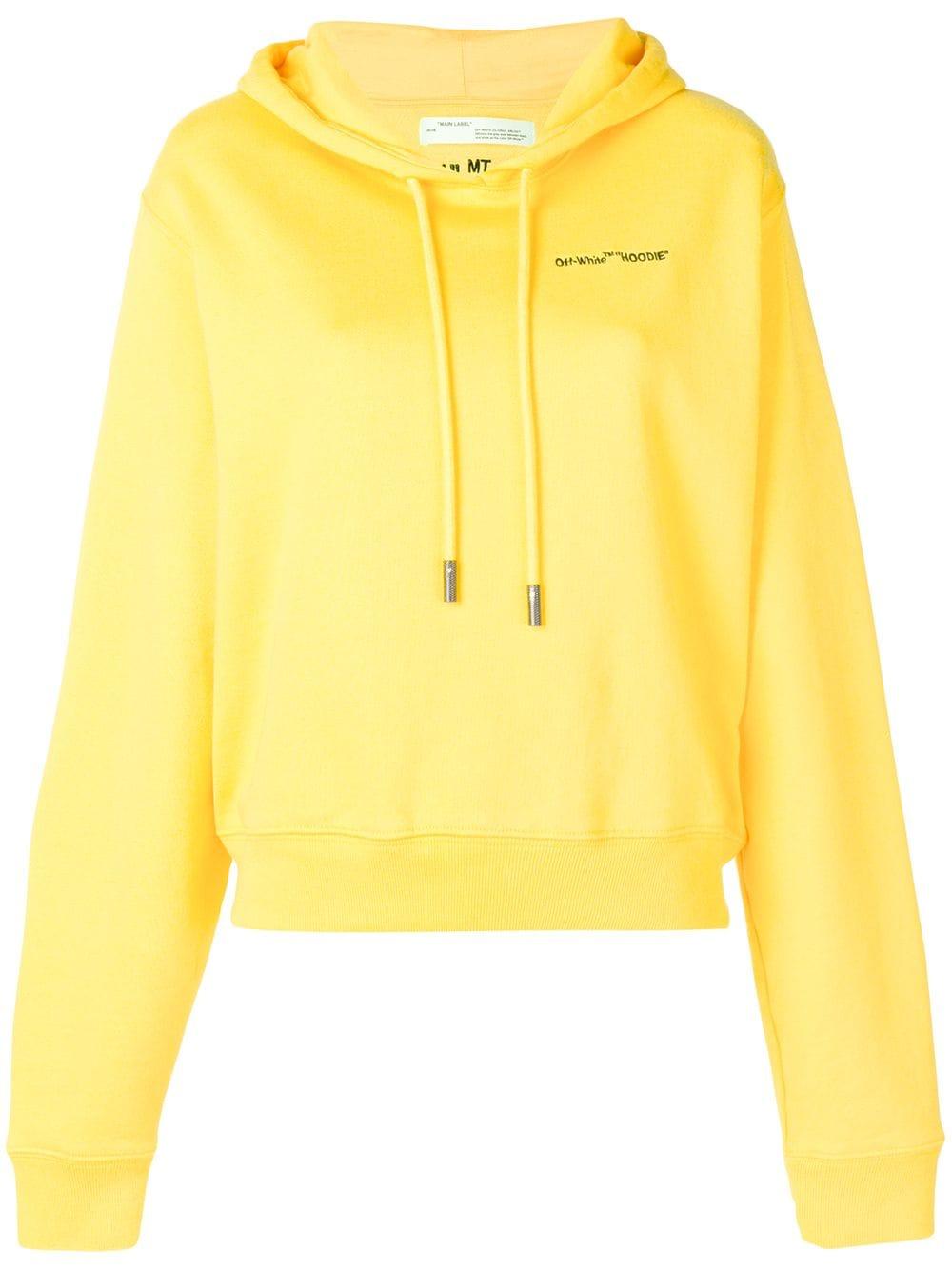 Off-White   Yellow Drawstring Hoodie