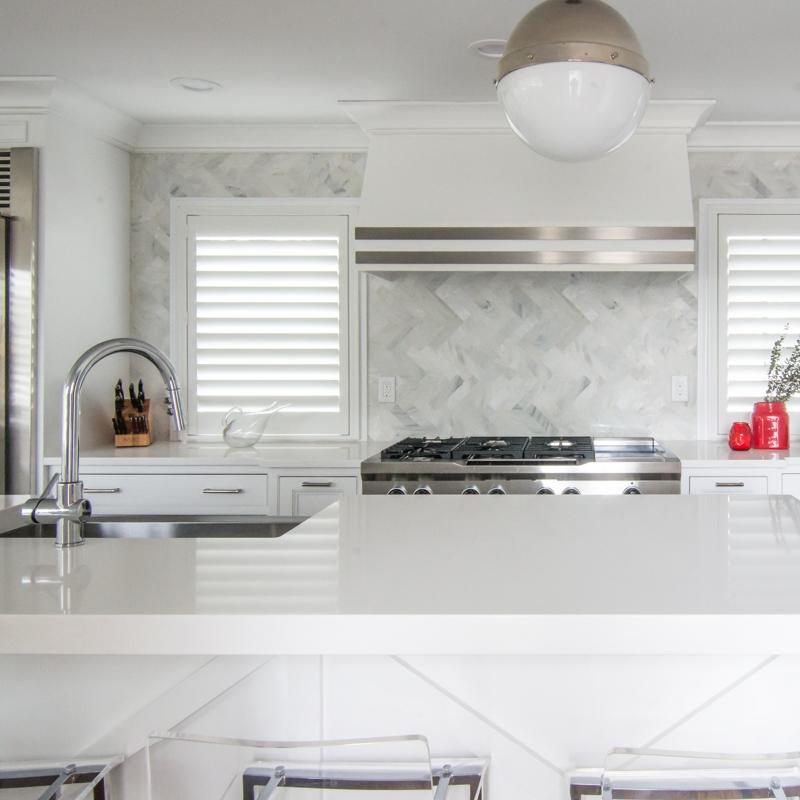 Cambria Quartz Countertops Designer Kitchen Herringbone backsplash Carrara.jpg