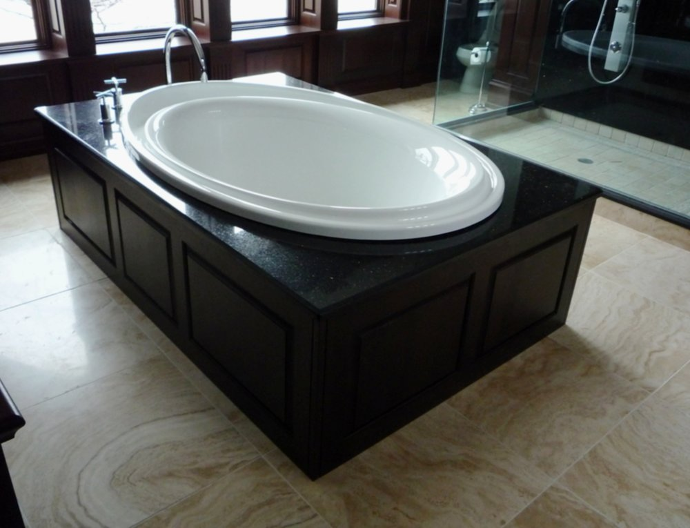 Bathroom marble tile floor standing tub.jpg