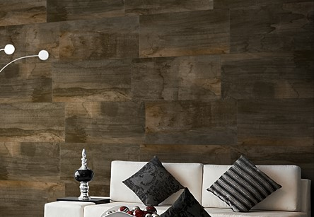 Living area wood look wall white carpet modern.jpg