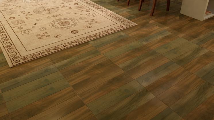 Living area wood look tile floor designer carpet.jpg