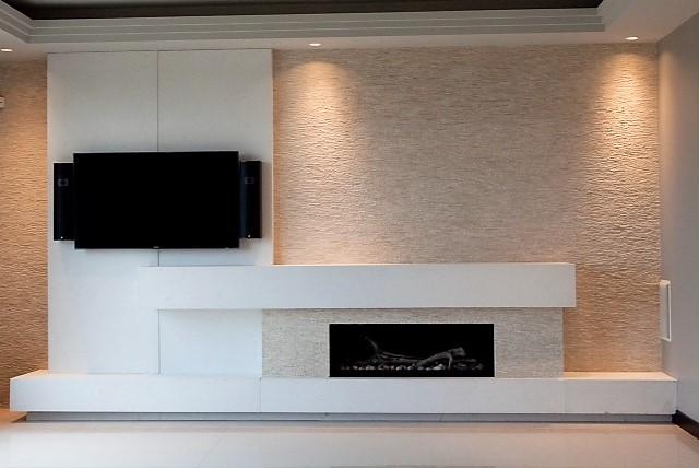 Livingarea Stone mosaic wall fireplace suuround.JPG