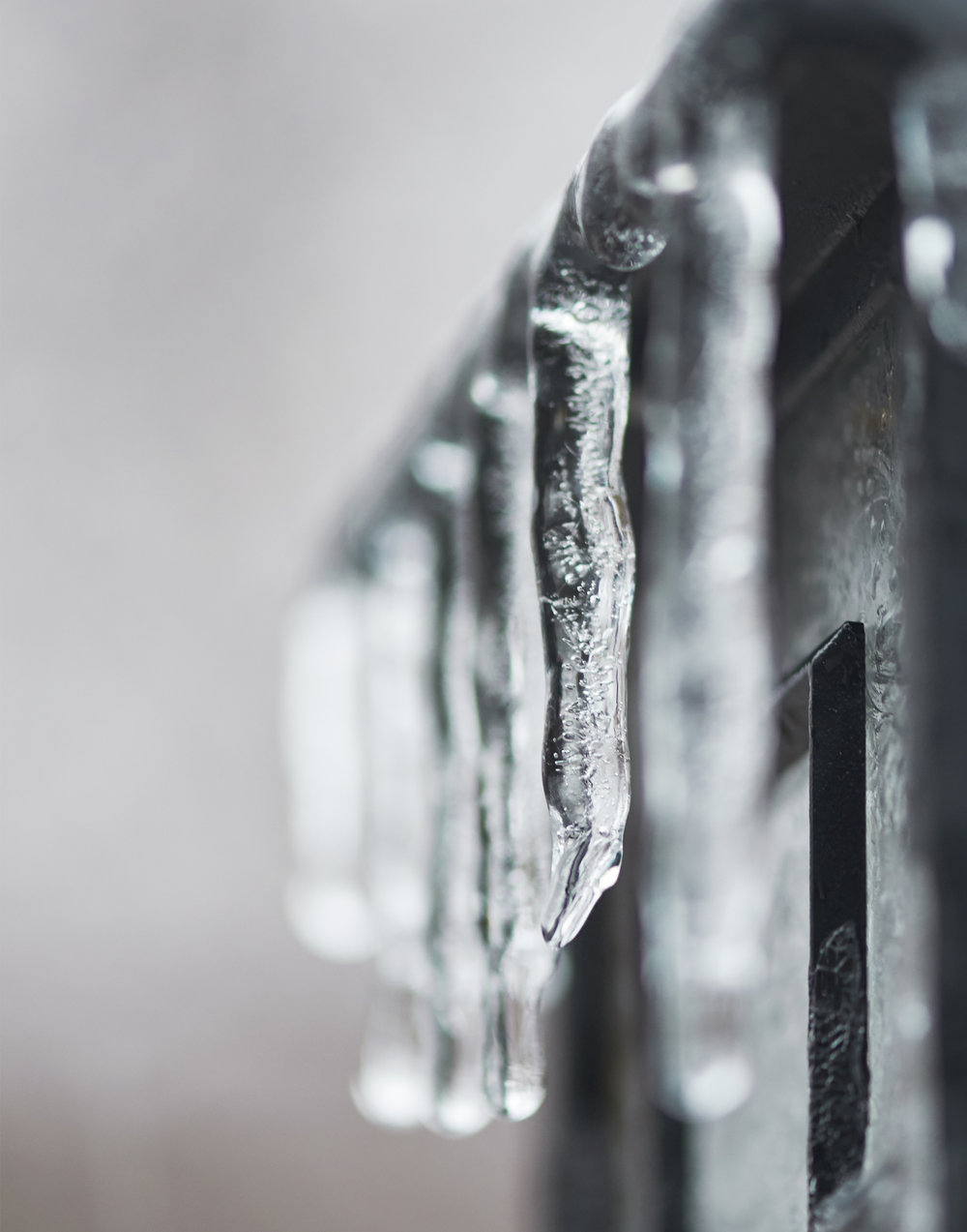 Icicles on a Lamp