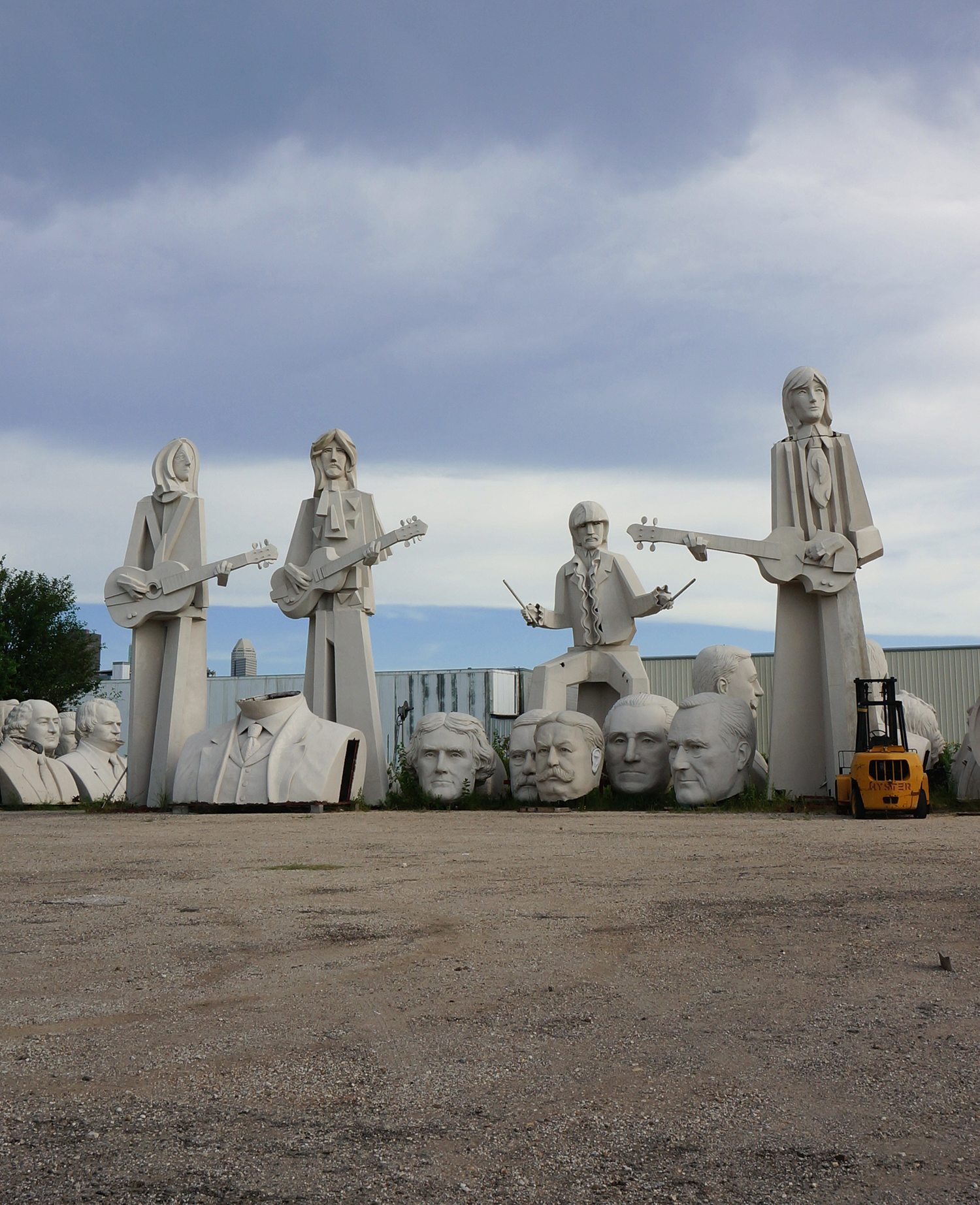 The Beatles statues in Houston