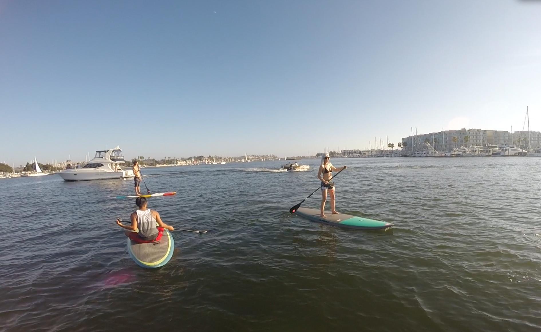 Paddleboarding in Marina Del Rey
