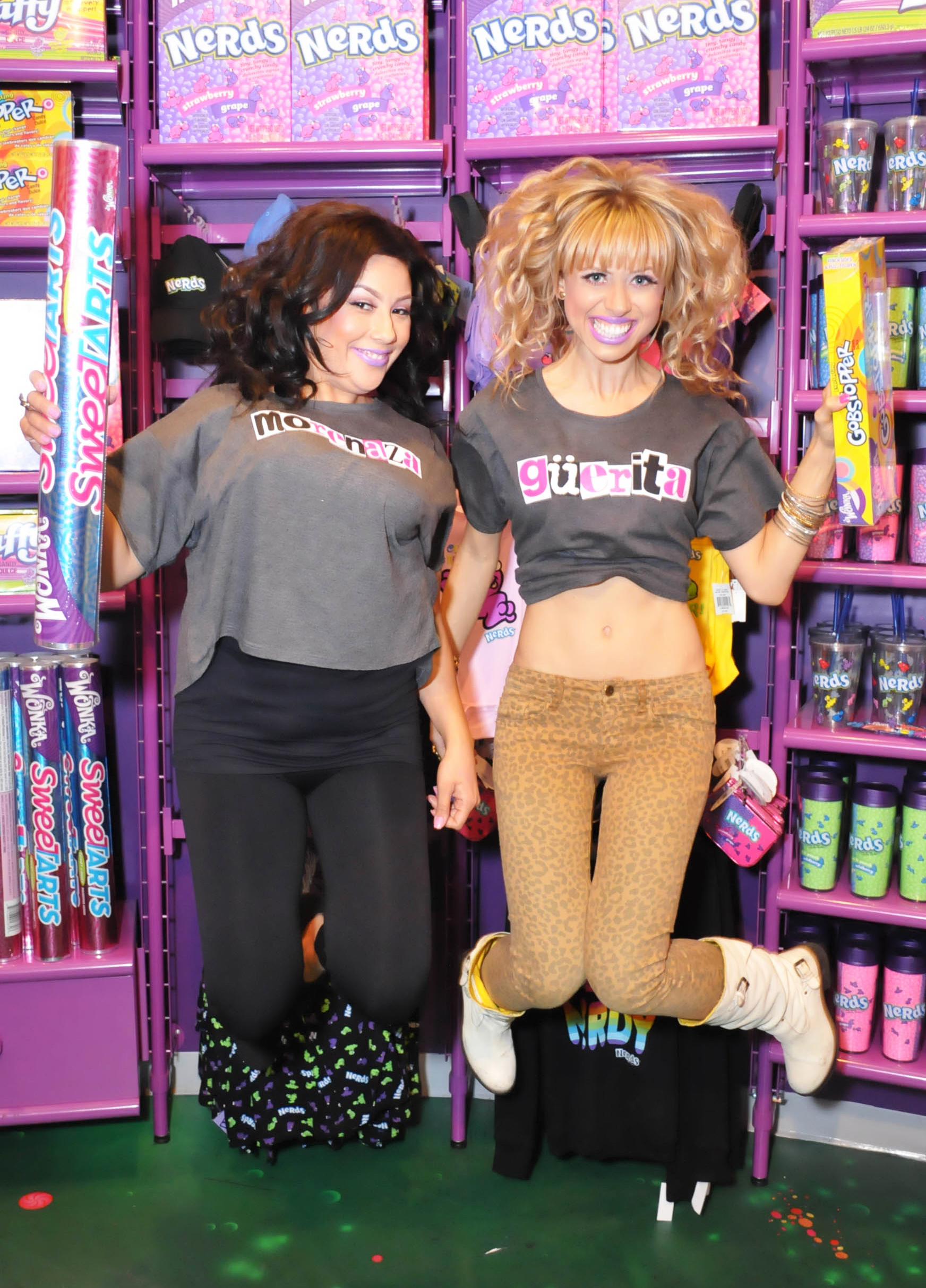 modeling at a candy shop