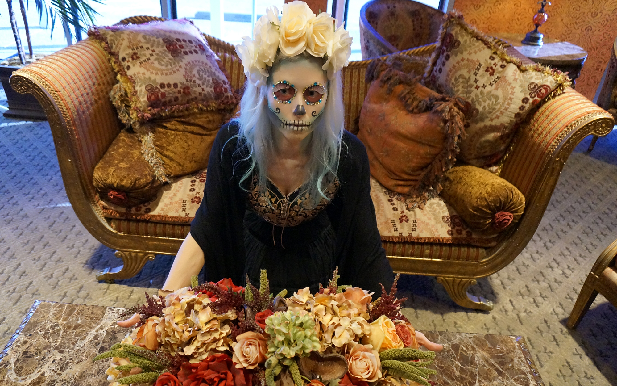 sugar skull costume creepy