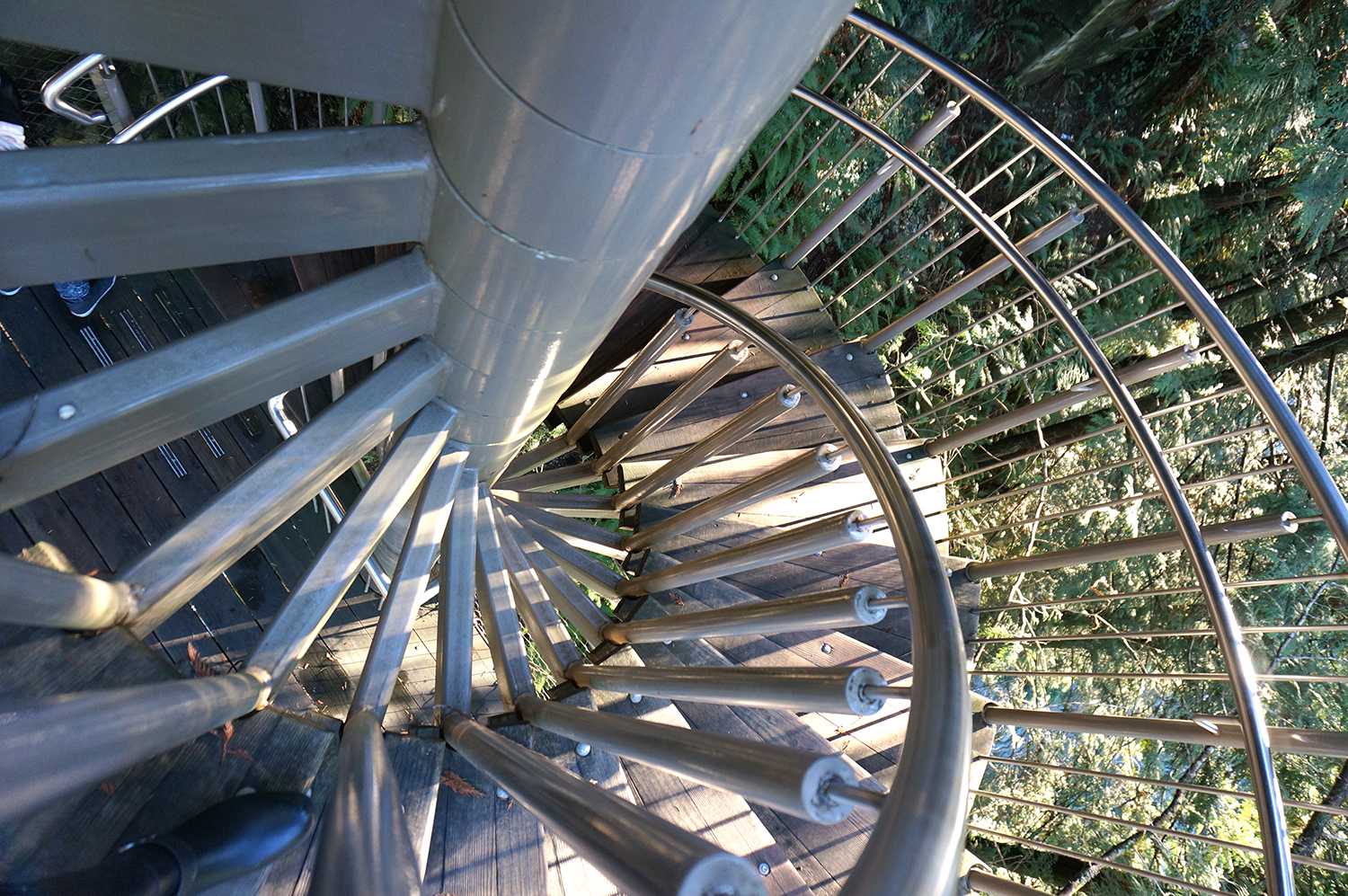 Outdoor spiral staircase