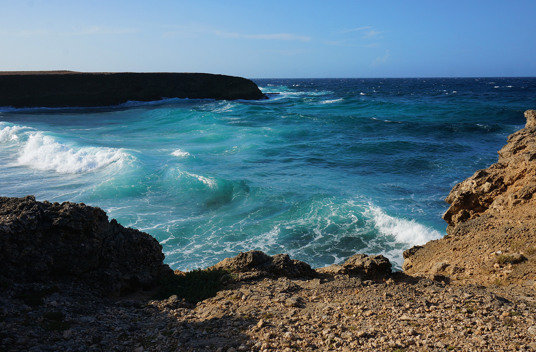 rocky beach Aruba