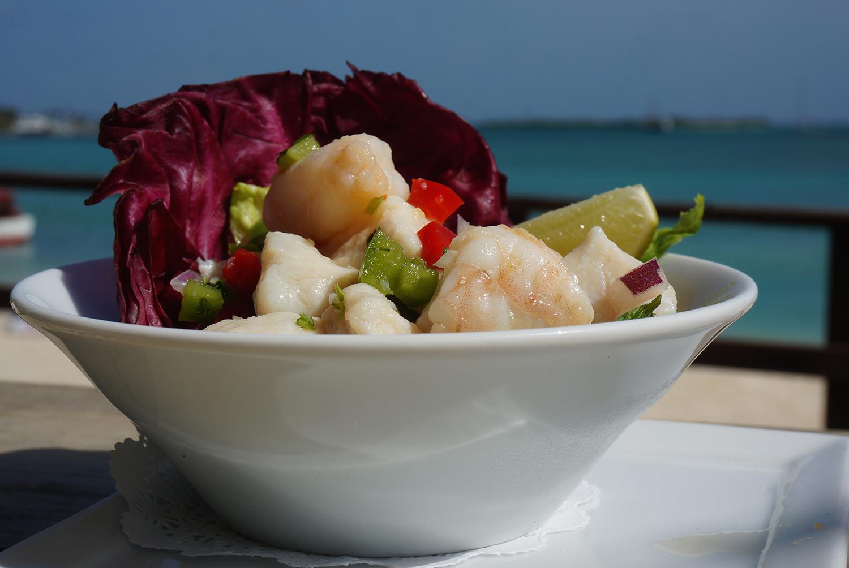 Fresh lobster ceviche Aruba