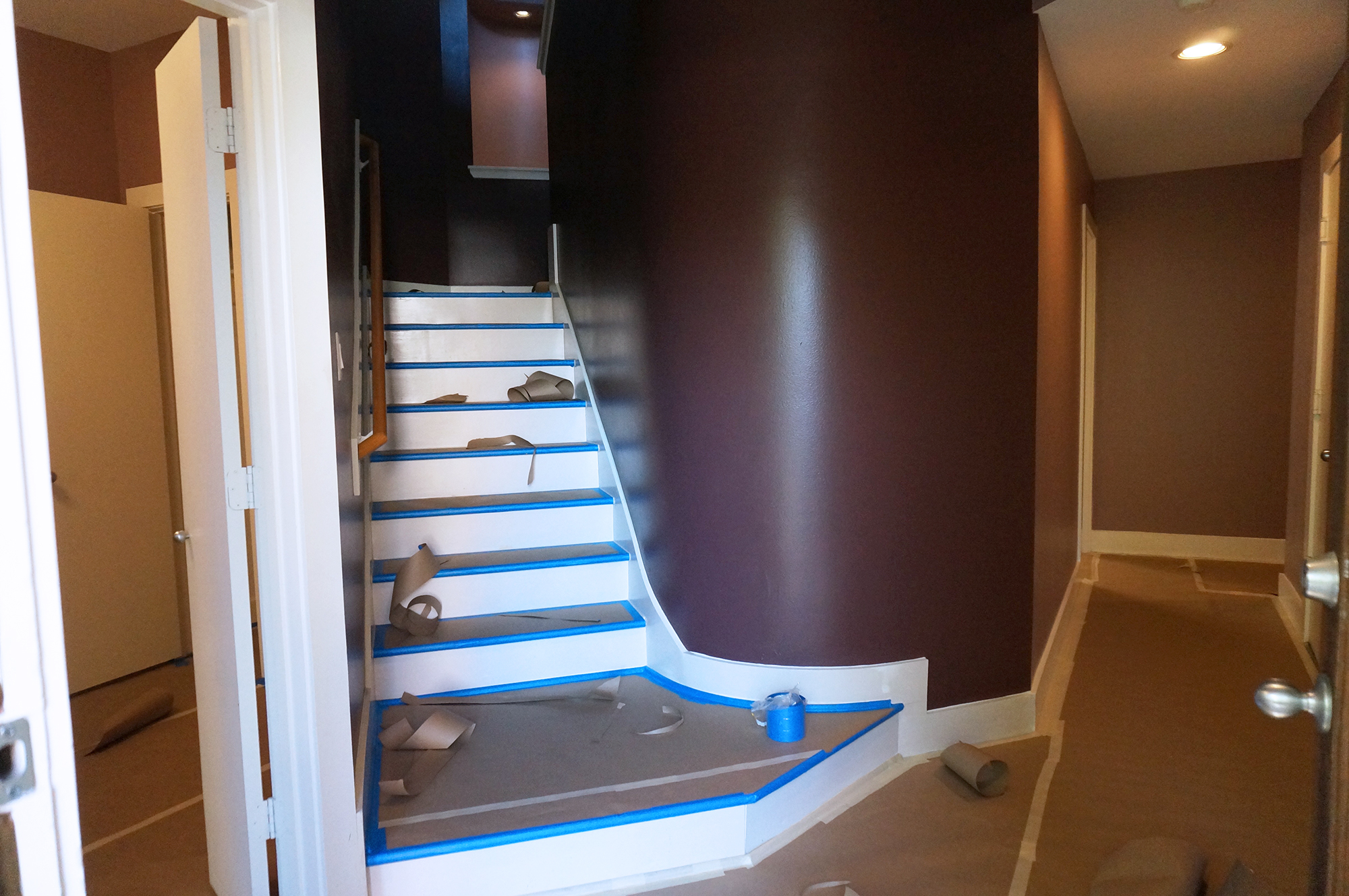 wine colored wall paint