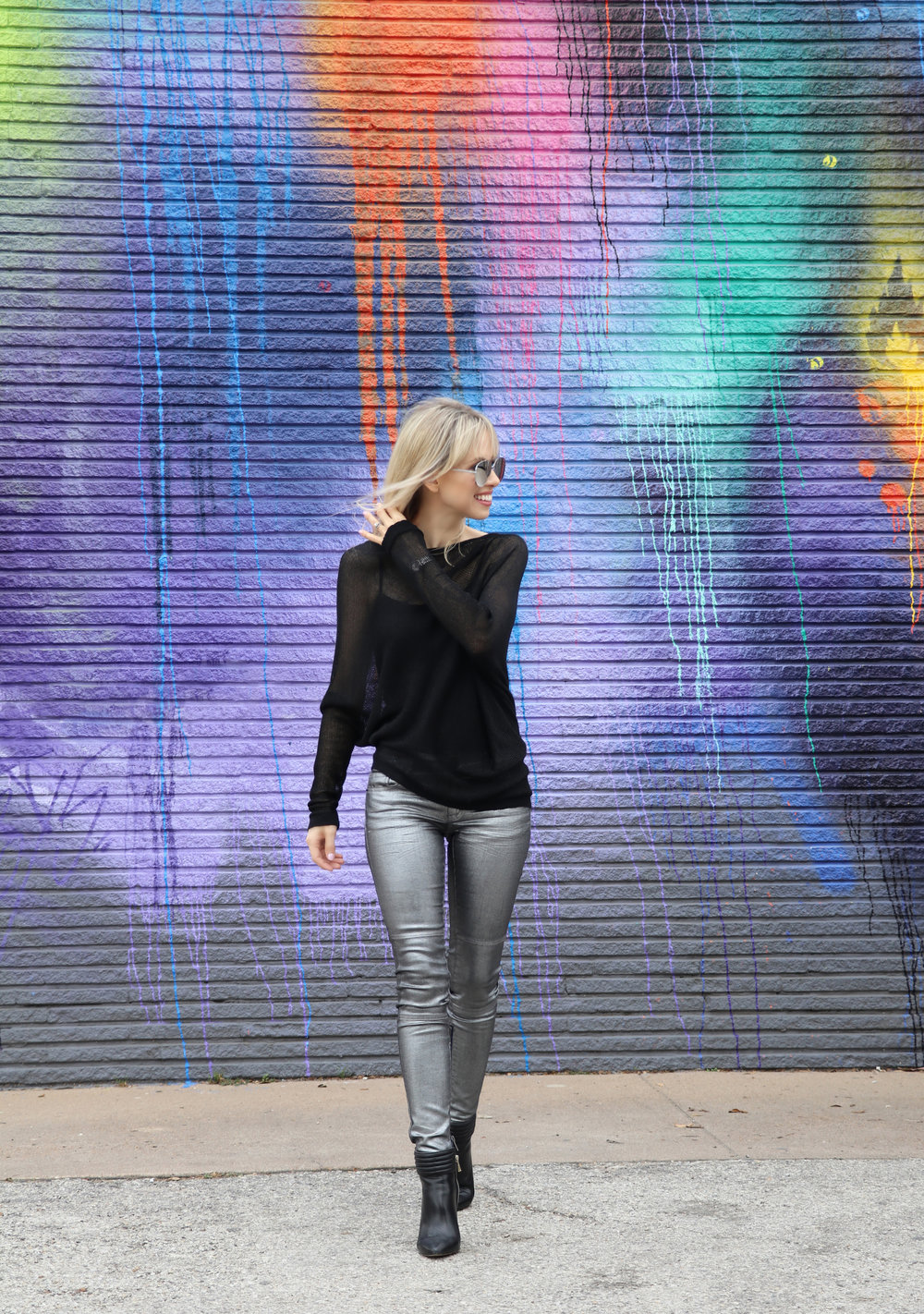 sweater & pants: BCBGeneration, boots: Ann Taylor, watch: swatch, sunglasses: stolen from Ben