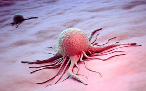 Cancer cell scientific illustration
