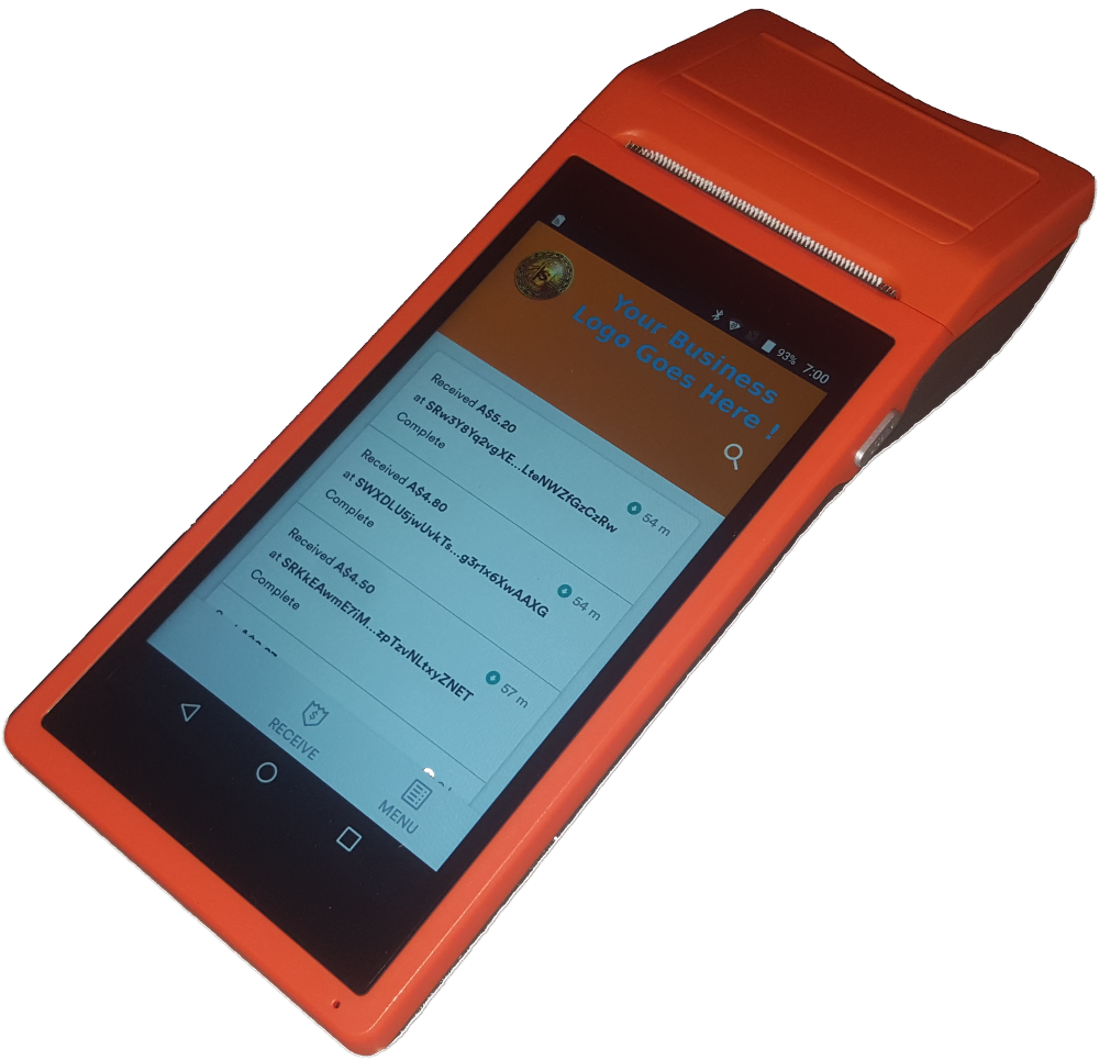 STRAYACOIN POINT OF SALE (POS) TerminalS AVAILAble soon- IN beta now - - Auto Startup to Strayacoin App- WIFI and 3G Mobile SIM- Thermal Receipt Printer- Receive in Local Currency, with automatic NAH conversion / exchange rate stored- direct connect to blockchain/no central server- development planned - financial reports