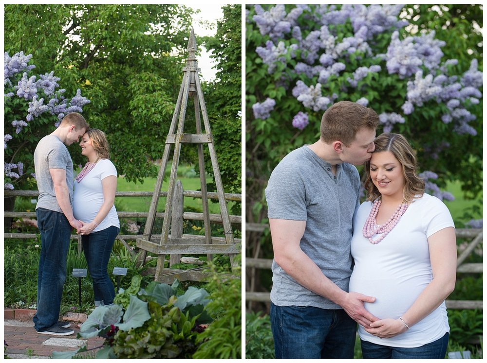 Green Bay Botanical Gardens Sunset Maternity Session_0009.jpg