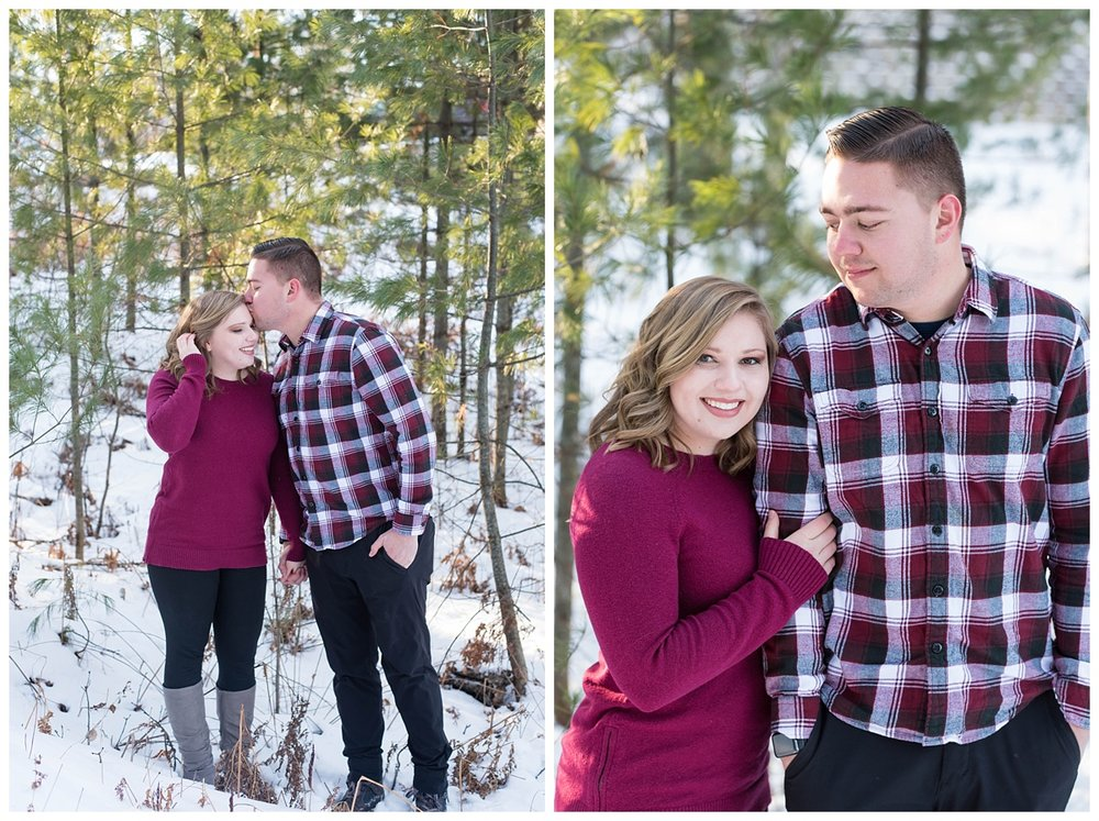 Iron Mountain, Michigan Cozy Cabin Winter Engagement Session_0005.jpg