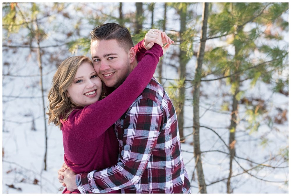 Iron Mountain, Michigan Cozy Cabin Winter Engagement Session_0006.jpg
