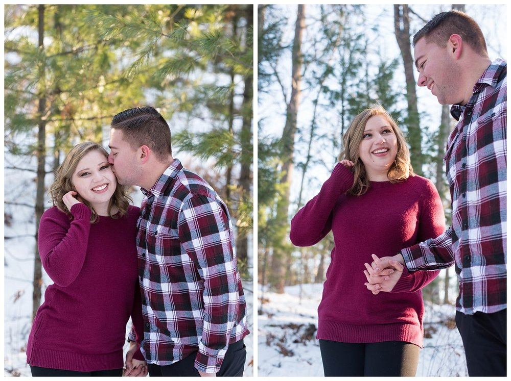 Iron Mountain, Michigan Cozy Cabin Winter Engagement Session_0007.jpg