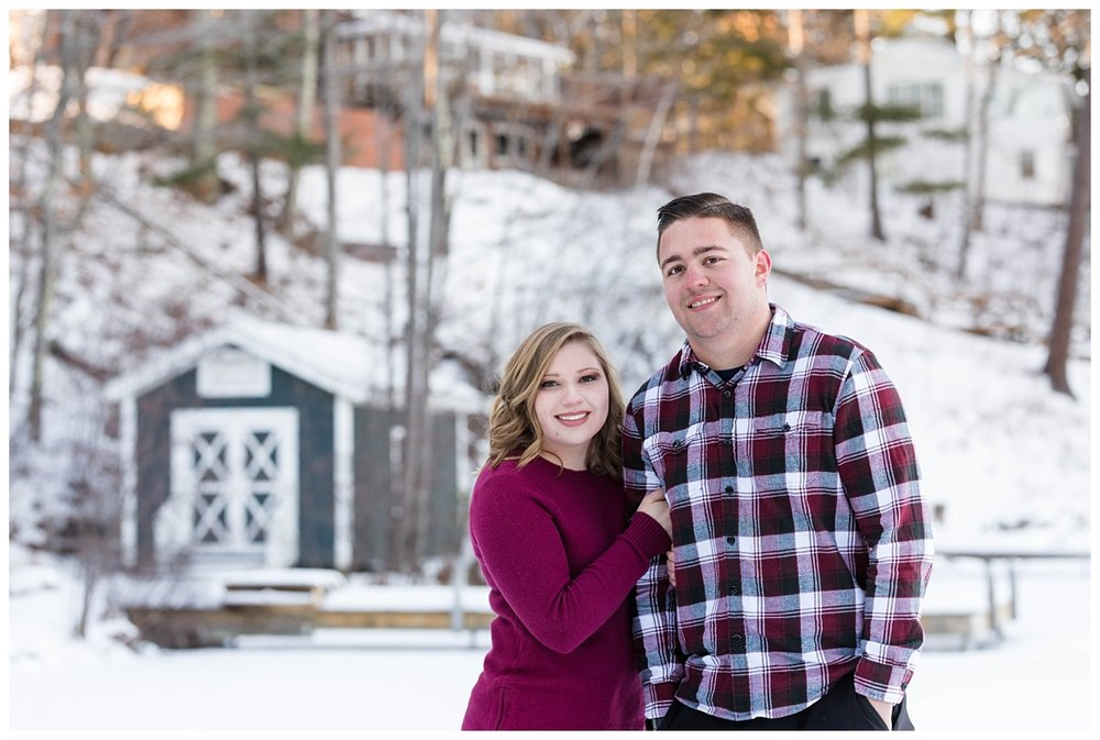 Iron Mountain, Michigan Cozy Cabin Winter Engagement Session_0016.jpg