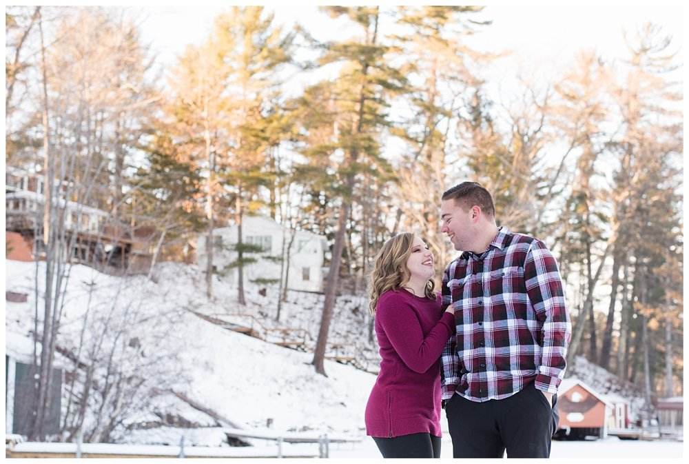Iron Mountain, Michigan Cozy Cabin Winter Engagement Session_0019.jpg