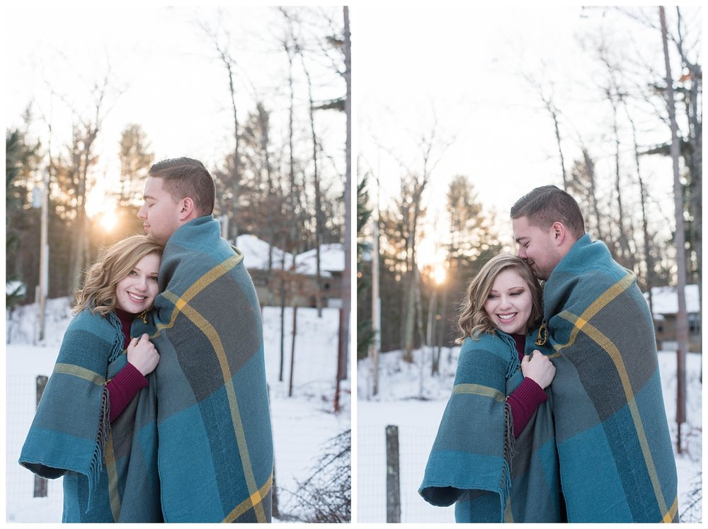 Iron Mountain, Michigan Cozy Cabin Winter Engagement Session_0040.jpg