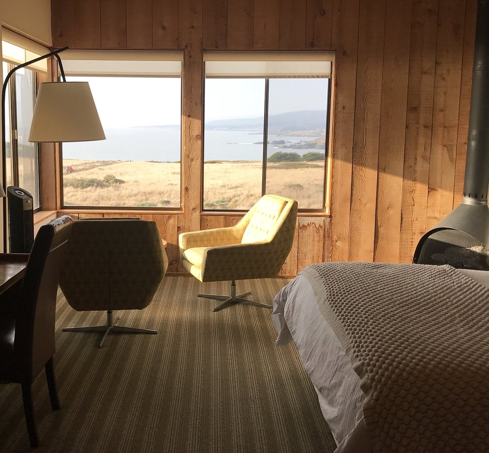 Our room was perfect. Clean and simple with a cozy fireplace and a gorgeous view.