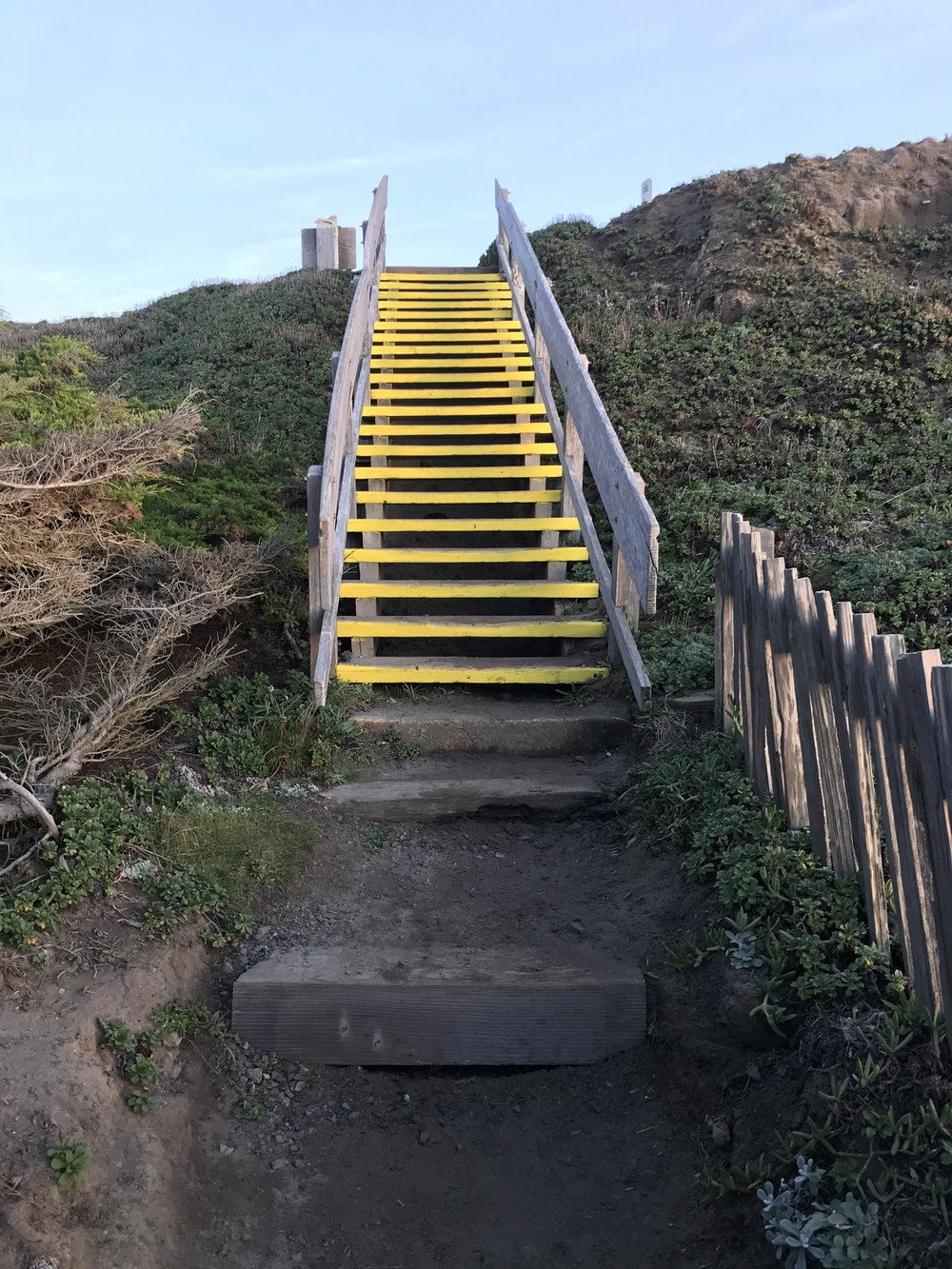 Even the stairway to the beach is gorgeous.