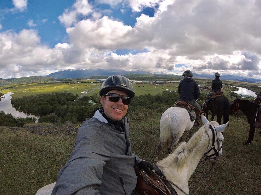 Overlooking the beautiful Serrano Valley.