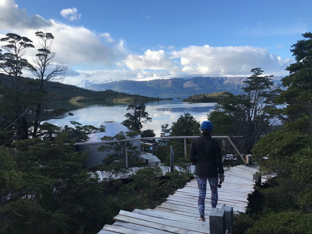 Taking one last look at Patagonia Camp.