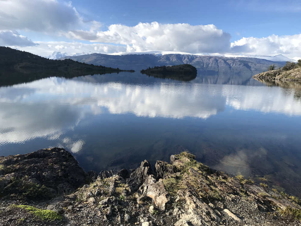 Raphael, the Patagonia Camp manager told us about this spot along Lago Bonita. I could have sat there all day!