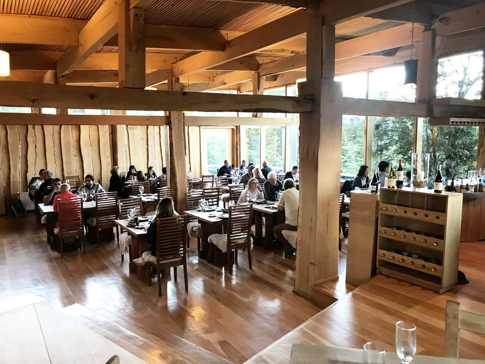 Another cozy evening in the dining room at Patagonia Camp. The dining room serves a breakfast buffet, lunch, and dinner every day. The food was delicious!
