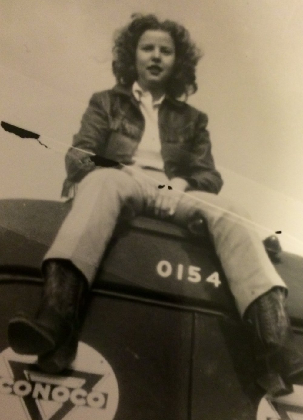 At 15, Clarice Hedeman was working for her Dad driving a truck. -