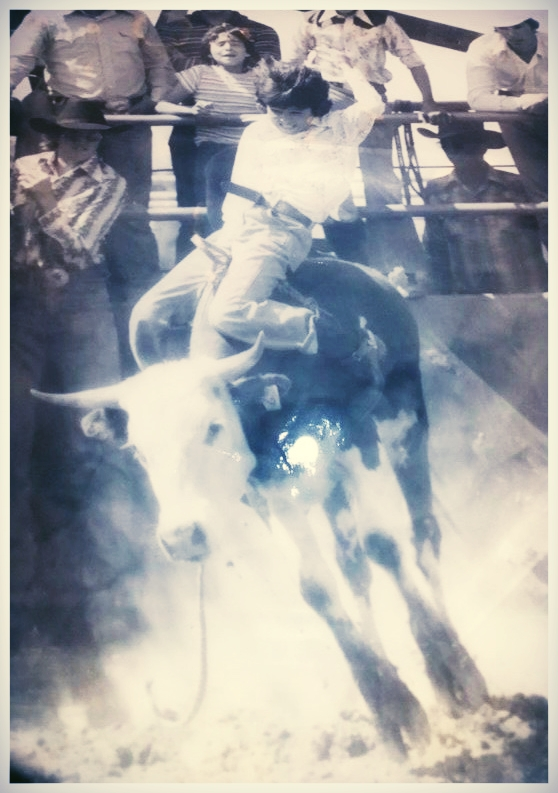 Mike E. Smith at Booger Bryants Bull Riding School  -