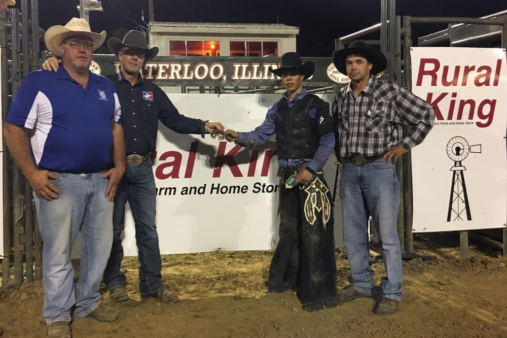Event Chair Jim Probst, Tuff Hedeman, Bubba Greig, and Matt Noble