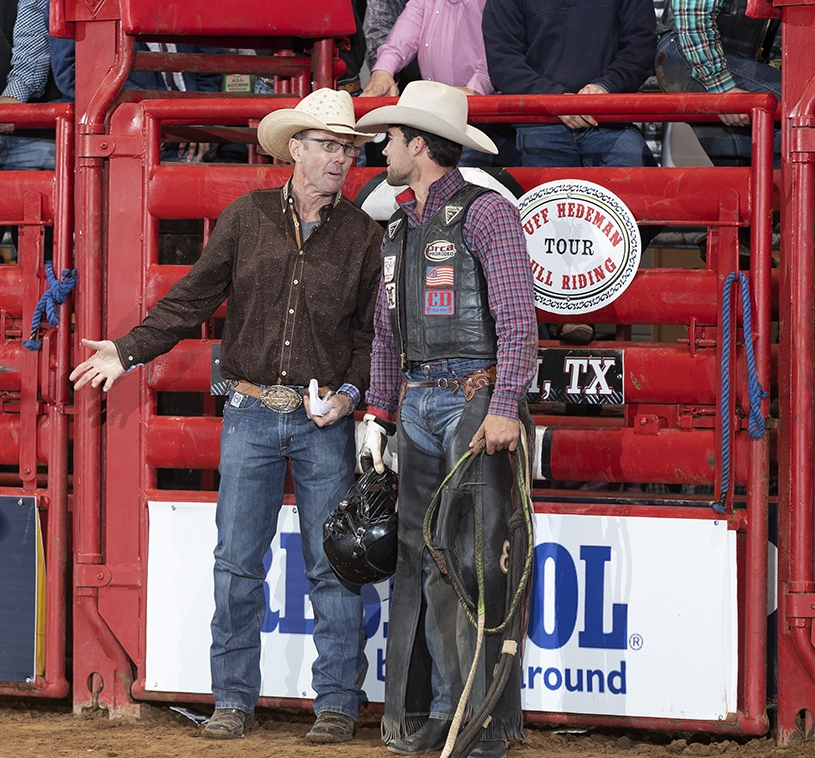 Tuff Hedeman and Eli Vastbinder at the Tuff Hedeman Fort Worth Championship in April