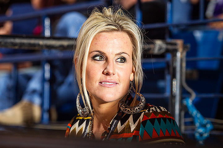 """When you are a contractor's daughter you fill in wherever you are needed at the rodeos, back then it was just ""the sound guy"" didn't show up to a bull riding. My folks nominated me. I was terrified but really enjoyed it and decided to pursue it. Now I'm super blessed with an amazing career and can't imagine doing anything else."""