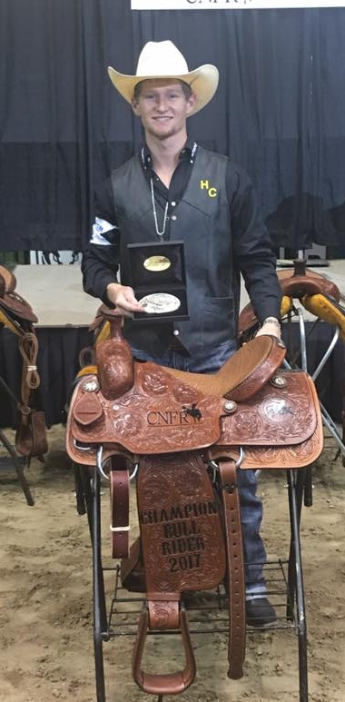 Representing Hill College, Cole accepted the honors in 2017 as the Intercollegiate National Bull Riding Champion