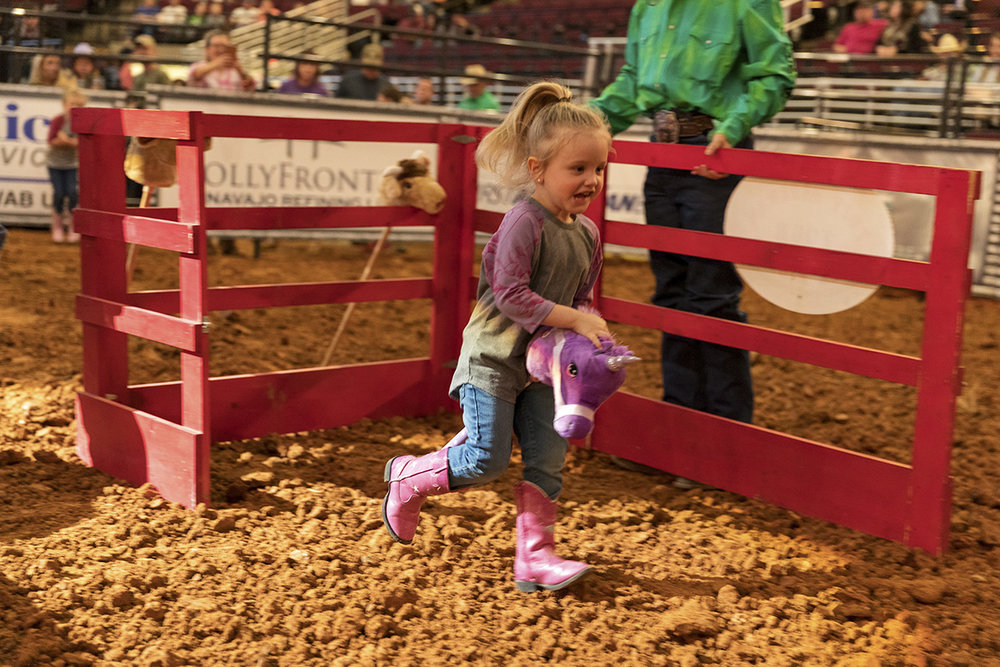 The Annual Stick Bull Riding competition held during the bull riding is a local favorite for kids.
