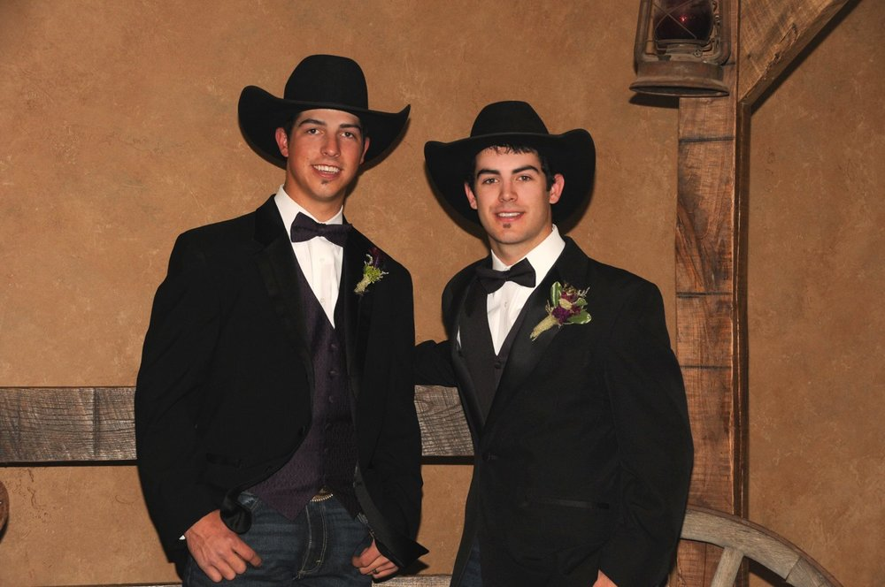 The bull riding brothers, Tim and Tyler Bingham of Honeyville, Utah.