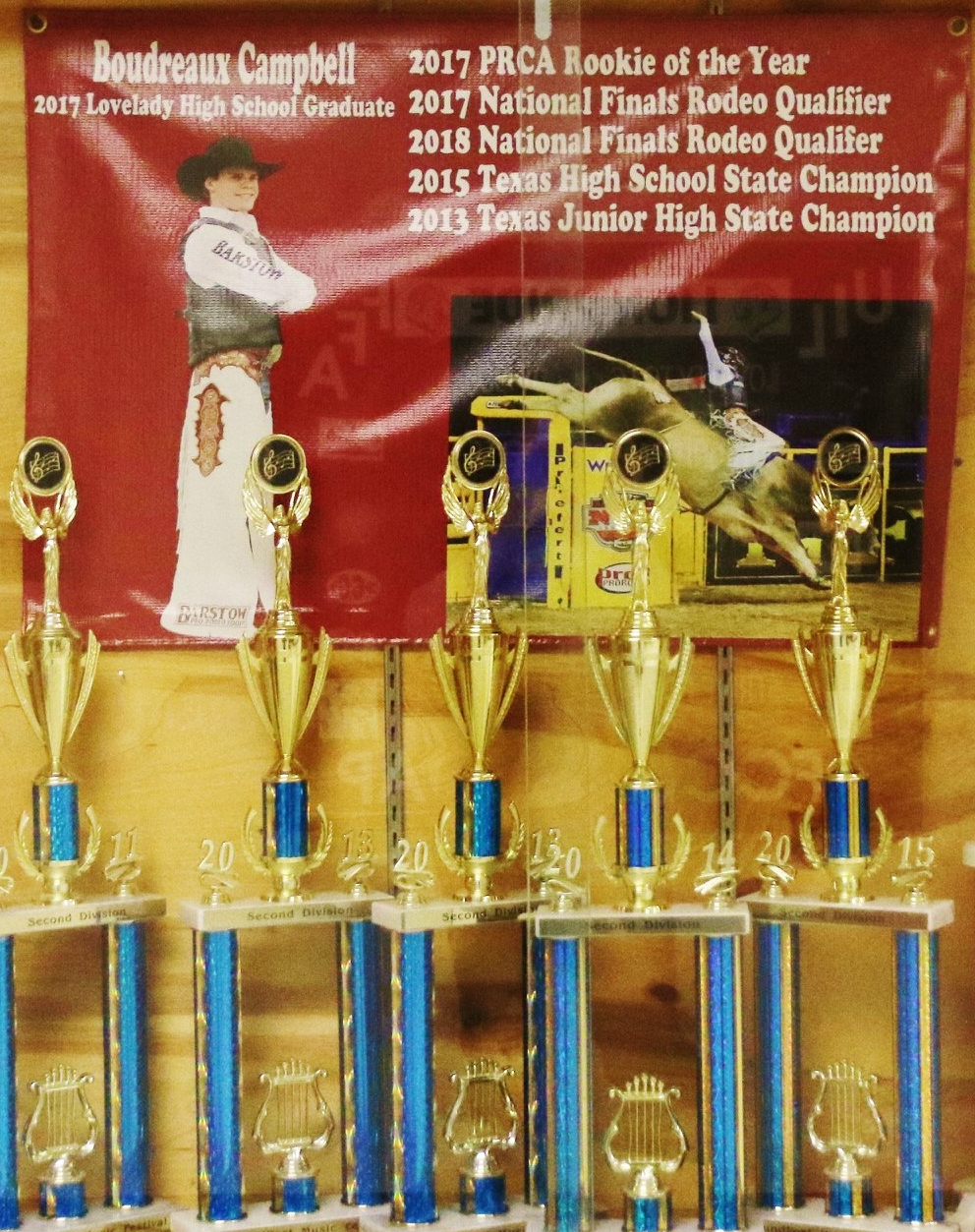Campbell was recently honored at his alma mater, Lovelady High School