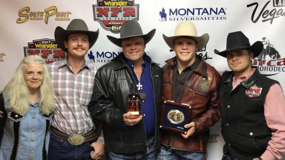 Boudreaux Campbell after winnings Round 9 at the 2017 NFR
