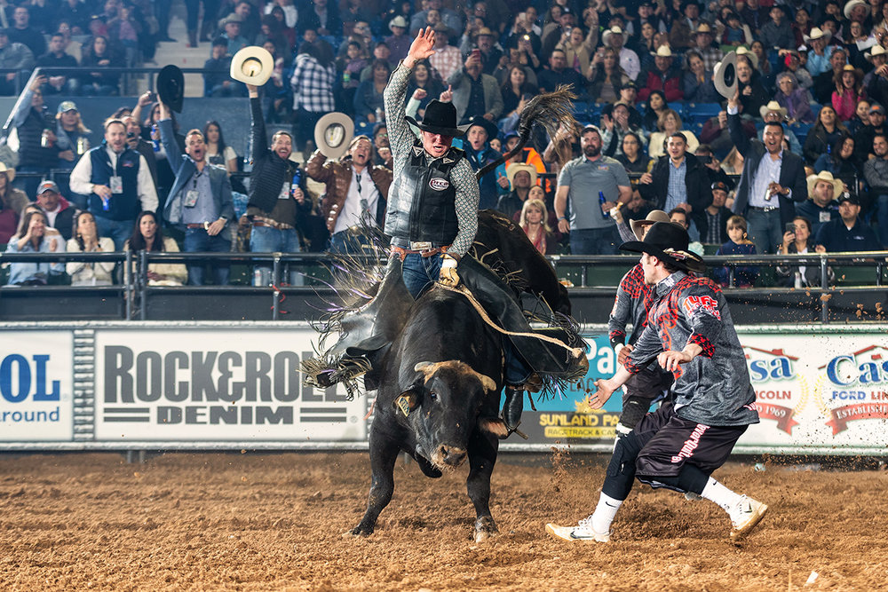 THBRT Hobbs Champion and Fort Worth Stock Show and Rodeo's 2nd place bull rider JT Moore of Alvin, Texas has qualified for the final four-man Shoot Out round in two 2019 THBRT events and is scheduled to comepete in Fort Worth at the the South Point Tuff Hedeman Challenge presented by Rock&Roll Denim.