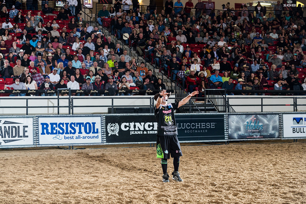 JJ Harrison will entertain you in between sections of action packed bull riding.