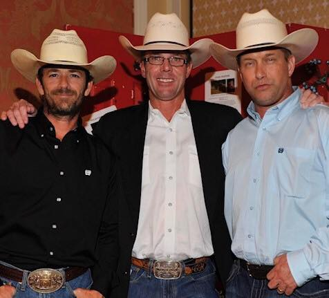 Luke Perry, Tuff Hedeman, and Stephen Baldwin all celebrated Western Wishes Charity with an 8 Seconds Reunion Gala in 2014.