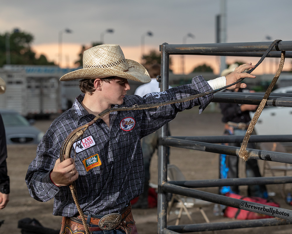 Jr. High and High School National Champion bull rider, Trey Holston of Fort Scott, Kansas.