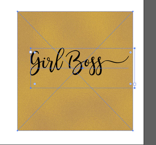How to add a gold foil texture to your text using Illustrator